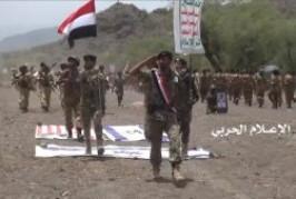 """صور من تخرج كتائب عسكرية بمناورة بأسم """" #التصعيد_بالتصعيد  لرفد جبهات القتال بحضور الأستاذ محمد علي الحوثي ."""