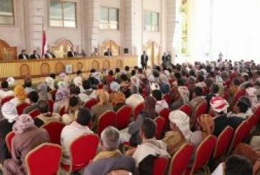 الرئيس الصماد يلتقي مشائخ وحكماء وأعيان وقيادات محافظة الجوف
